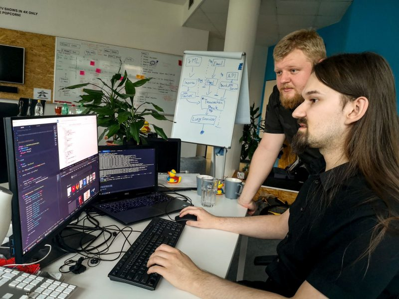A picture from the internal hackaton at our Hradec Králové branch.